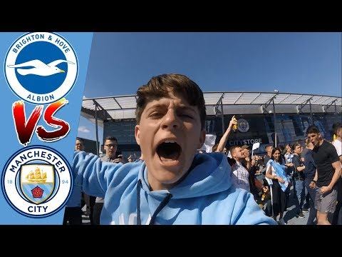 MAHREZ SCORES AS CITY WIN THE LEAGUE | BRIGHTON 1 MAN CITY 4 | MATCHDAY 38 | VLOG #83