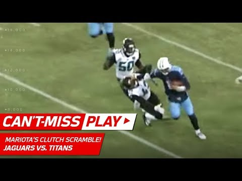 Video: Marcus Mariota Throws Sick Stiff Arm to Send Titans to the Playoffs! | Can't-Miss Play | NFL Wk 17