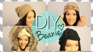 DIY No Sew Cute Beanie Boho Twisted Hat {EASY How to Make} - YouTube