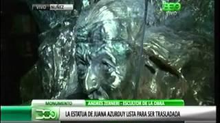360 TV - La estatua de Juana Azurduy lista para ser trasladada