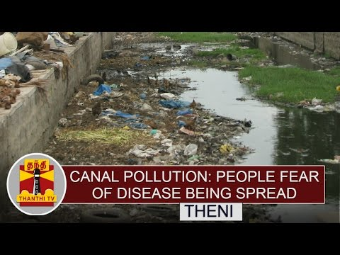 Canal-Pollution-People-Fear-of-Disease-being-Spread-at-Theni-Thanthi-TV