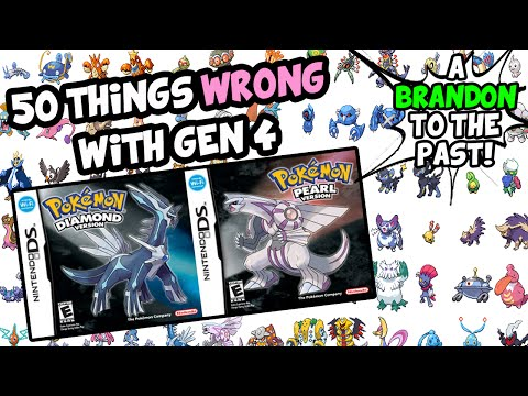 wrong - Continuing the series, I count 50 things that are wrong with Gen 4! Pokemon Diamond Pearl and Platinum. These games had a lot of technical problems since they were the first ever Pokemon games...