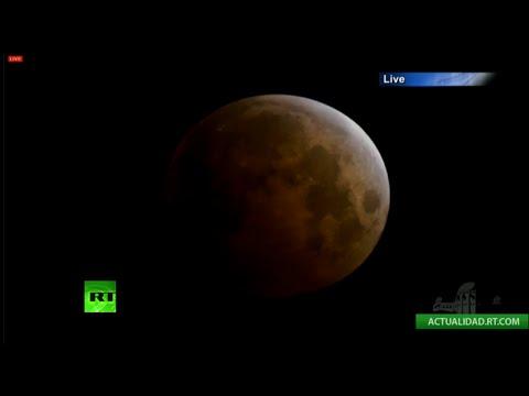 lunar - (Fuente: NASA TV) La madrugada de este miércoles, a partir de las 10.00 GMT, tendrá lugar por segunda vez este año un eclipse de Luna roja. TODA LA INFORMACIÓN: http://es.rt.com/B8a Parts...