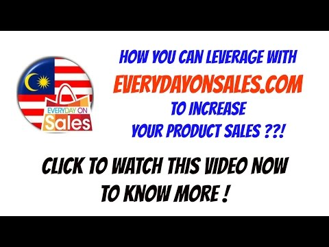 Advertise to Increase Sales! On EverydayOnSales.com