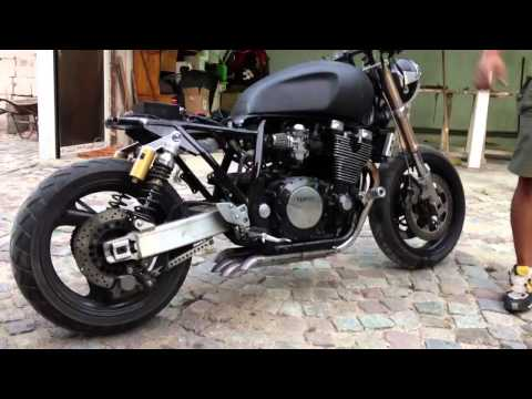 Yamaha xjr 1300 cafe racer videos custom for Yamaha vmax cafe racer parts