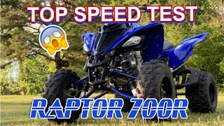 7. 2019 Yamaha Raptor 700r TOP SPEED TEST