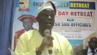3 DAY SEMINAR RETREAT FOR EKSU STUDENTS UNION LEADERS