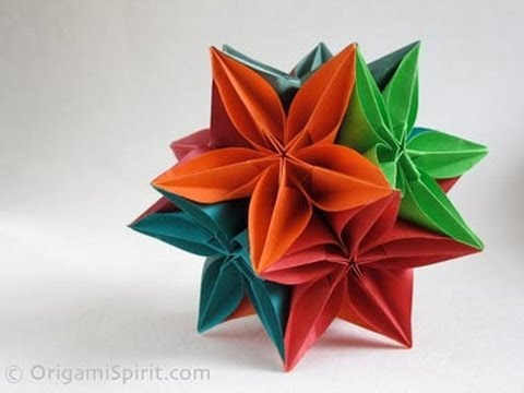 Kusudama Tutorial - 023 -- Flower