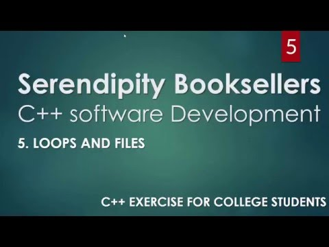 C++ Serendipity Booksellers Software Development Project— Part 5: C++ Loops