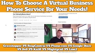 Looking for a virtual business phone line, and not sure which provider is right for you? My favorite business number forwarding service: http://cleverleverage.com/grasshopperytMy favorite business voip service: Phone.com http://cleverleverage.com/phone.comyt10OFF10% OFF Phone.com's virtual business phone services: Phone.com http://cleverleverage.com/phone.comyt10OFFIn this video, I talk help make choosing between a number forwarding service and business voip dropd ead simple. Most things you find online make it super complicated, but really it comes down to how you want to use your virtual business number. I discuss the main difference between the most popular virtual number forwarding services for small business, which include:Grasshopper VS Evoice VS Google Voice VS Line2 VS Mightycalland how to know which is right for you when comparing them to business voip reviews, including:Ringcentral VS Phone.com VS 8x8 VS Kall8 VS Nextiva VS Vonagehttp://cleverleverage.com/grasshopperyt Use Grasshopper to add a business line to your cell for less than $15 bucks a month!- Help you sound more professional- Run your business from anywhere- Separate personal and business lifeThe 3 Virtual Phone Providers I Use MostGrasshopper http://cleverleverage.com/grasshopperytPhone.com http://cleverleverage.com/phone.comyt10OFFRing Central http://cleverleverage.com/ringcentralythttp://cleverleverage.com/3-cheap-voip-business-phone-services/See OOMA And OBi For Google Voice On Amazonhttp://amzn.to/2oY8NWUNot Sure If Google Voice Is Right For You?http://cleverleverage.com/google-voice-alternatives/Quickly And Easily Add A Toll Free Number To Google Voicehttp://cleverleverage.com/get-toll-free-800-number-google-voice/Evoice Alternatives For Those Who Are Unhappy With Their Business Forwarding Servicehttp://cleverleverage.com/top-3-best-alternatives-to-evoice/HOW TO GET AN 800 NUMBER FOR YOUR SMALL BUSINESS (In 10 Minutes Or Less)http://cleverleverage.com/get-800-number-small-business-10-minut