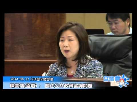 陳美儀 立法會全體會議 20140813