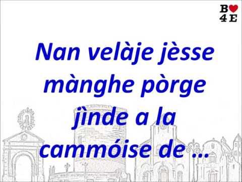NAN VELÀJE JÉSSE MÀNGHE PÒRGE JÌNDE A LA CAMMÓISE DE …