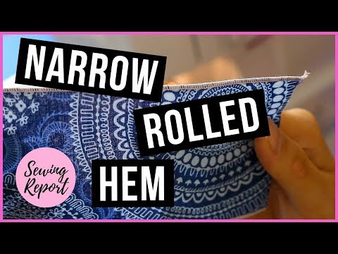How To:  Narrow Rolled Hem on Brother 1034D Serger | SEWING REPORT