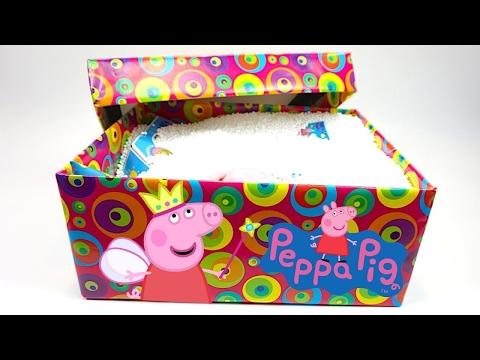 Свинка Пеппа сюрпризы. Пеппа прислала посылку с игрушками каналу Игрушкин ТВ - DomaVideo.Ru