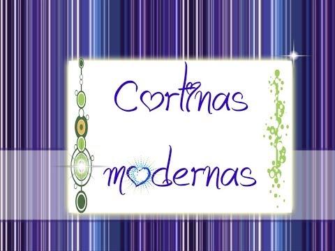 cortinas modernas - Cortinas elegantes, modernas y ya sabes con estilo ¿Que tal quedaron las tuyas? SUSCRIBETE http://goo.gl/NwIb03 SIGUEME EN facebook.com/manualidades.paso SIG...