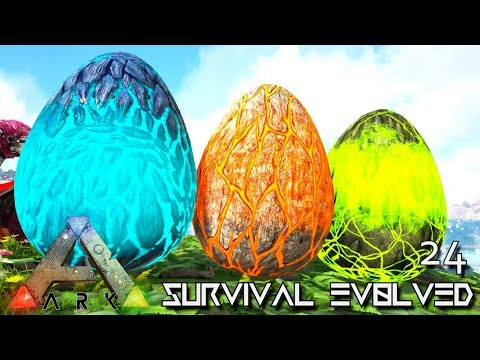 ARK: SURVIVAL EVOLVED: ALPHA WYVERN EGGS & TEK RAPTOR E24 !!! ( ARK EXTINCTION CORE MODDED ) (видео)