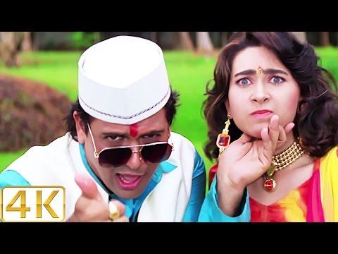 A Aa Ee O O O - 4K Ultra HD Video Song | Karisma Kapoor & Govinda | Raja Babu