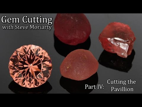 A professional gemcutter demonstrates his gemstone faceting techniques