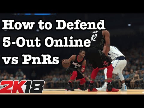 NBA 2K18 Tips How to win online. How to defend 2K18 Pick and Rolls Online Tips #21