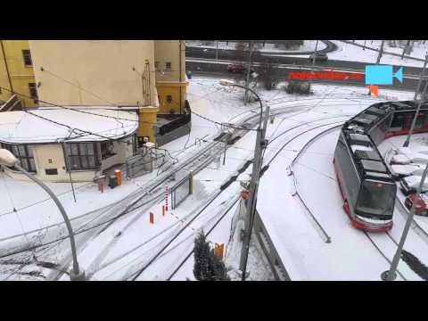 Sníh na Pankráci