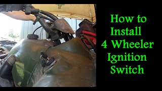 5. How to Replace the Ignition Switch on a 4 Wheeler