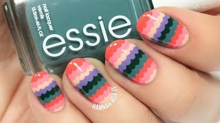 Cute Spring Scalloped Nail Art (easy for beginners!) - YouTube