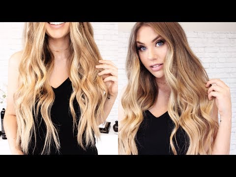 New hairstyle - How I Style My NEW HAIR EXTENSIONS // Sitting Pretty Halo REVIEW
