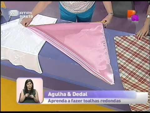 Dicas de costura - Aprenda a fazer toalhas redondas - Praça da Alegria