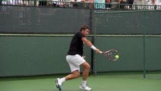 Tennis Highlights, Video - Stanislas Wawrinka Backhand In Super Slow Motion 2 - Indian Wells 2013 - BNP Paribas Open
