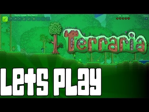 Let's Play Terraria Episode 3- Gathering Resources