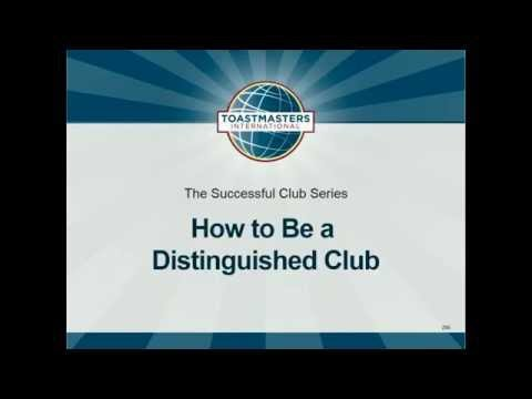 How To Become a Distinguished Club, Best Club Climate, Meeting Roles
