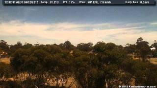 4 December 2015 - West Facing WeatherCam Timelapse