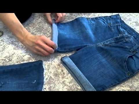 Как из старых джинс сделать шорты PlanetLagu