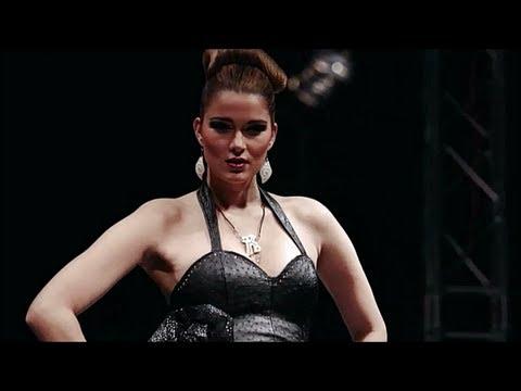 Berlin fashion week 2013 Fredini Luxusmode aus Straußenleder a/w 2013/2014