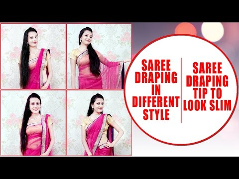 , title : 'Saree Draping in Different Style | Saree Draping Tips to Look Slim| KhoobSurati.com'