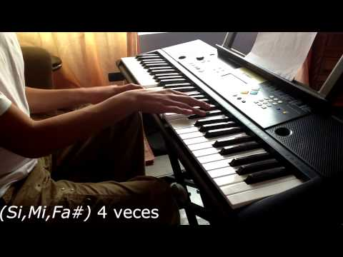"""Como tocar la canción """"Antes que al mío"""" de Los Claxons en Piano, Teclado. (Tutorial fácil)"""
