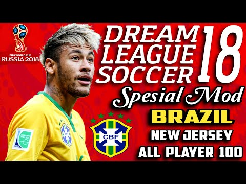 Download Dream League Soccer 18 Mod Brazil Neymar Fifa World Cup Russia 2018 | Hack Unlimited Money