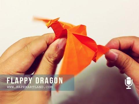 Как сделать дракона из бумаги за 1 минуту