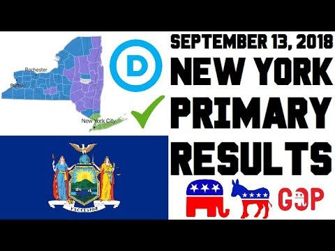 September 13, 2018 New York Primary Results Analysis - Governor, State Senate, IDC Caucus