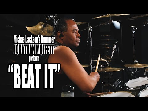 "Michael Jackson's Drummer Jonathan Moffett Performs ""beat It"" On Drumeo!"