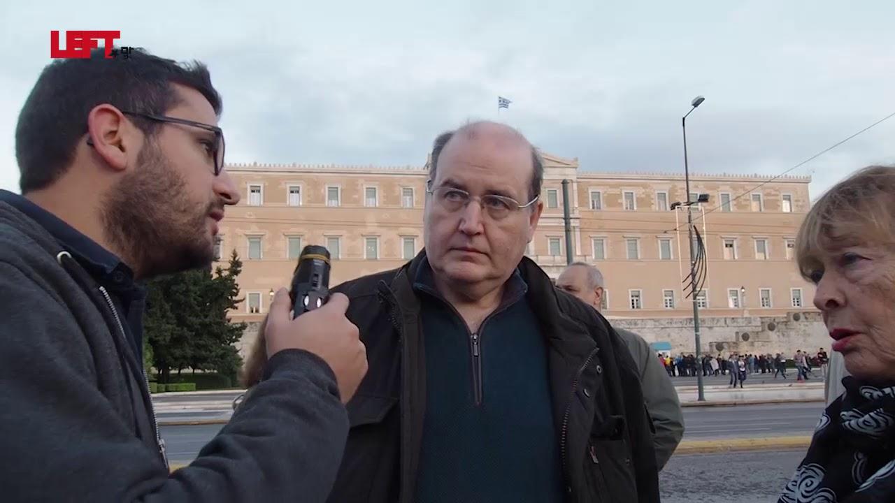 Ν. Φίλης και Ελ. Σταματάκη στο Left.gr για την απεργία πείνας στο Σύνταγμα