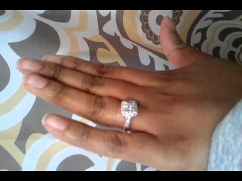 Princess cut bridal set