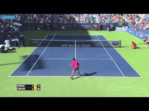 Magia di Federer contro Murray