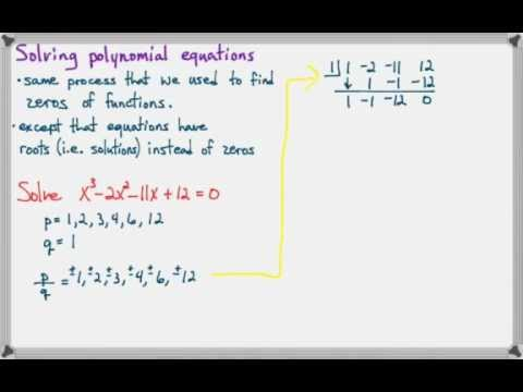 Solving Polynomial Equations with the Rational Root Theorem