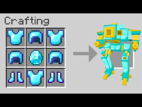 Minecraft But There Are Custom Robots
