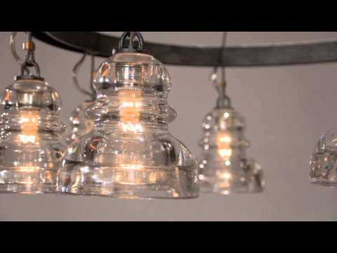 Video for Old Silver Menlo Park Five-Light Chandelier