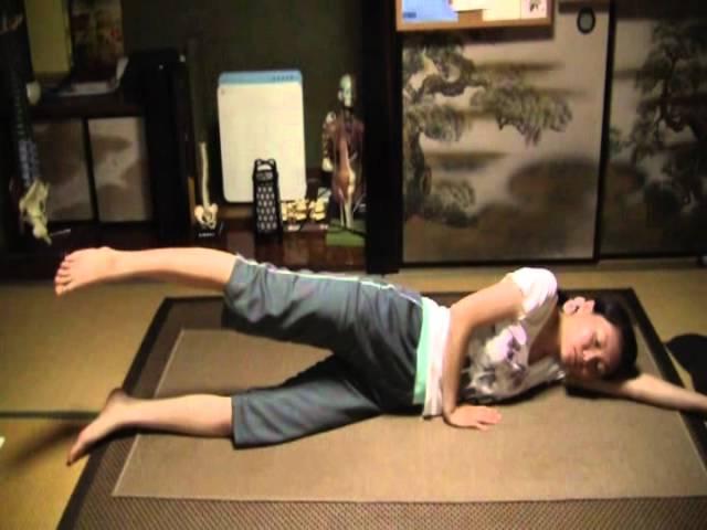 腸腰筋トレーニング【太もも痩せ体操】足パカ横バージョン