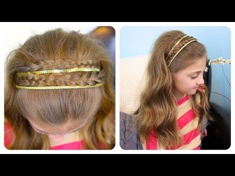 Double Braid Sparkly Headband | Cute Girls Hairstyles