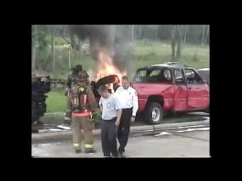 Cold Fire - extinguishing tire fire in Houston