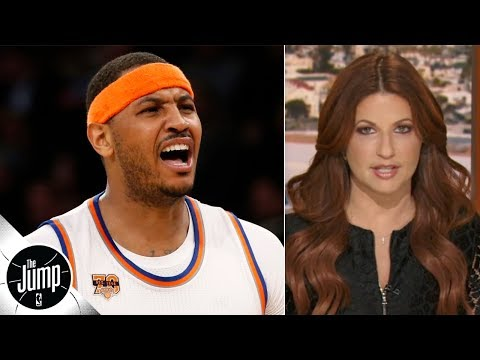 Video: NBA players texted me 'what about Melo?' after Joe Johnson got signed - Rachel Nichols | The Jump